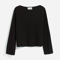Cashmere Boatneck Sweater Navy